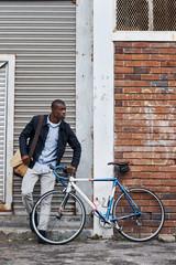 hipster bike man