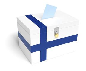 Finnish Flag Ballot Box