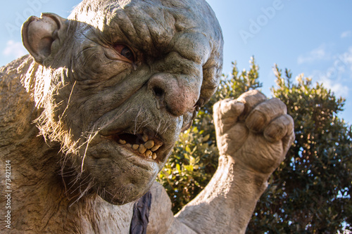 "Fotobehang Nieuw Zeeland Troll, ""The Cave"" at Weta Workshops, Wellinton, NZ"