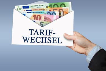 Tarifwechsel-Umschlag
