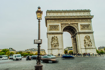 Arc de Triomphe from Avenue des Champs-Elysees