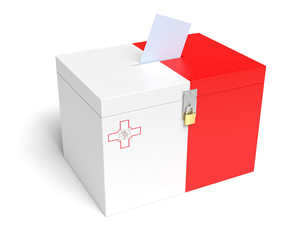 Maltese Flag Ballot Box