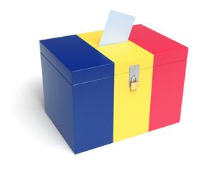 Romanian Flag Ballot Box