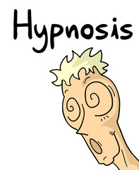 Hypnosis cartoon