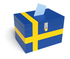 Swedish Flag Ballot Box