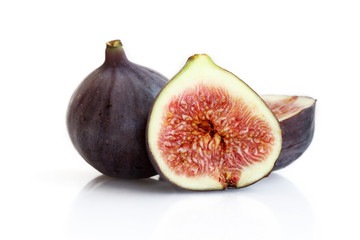 Figs on the white background