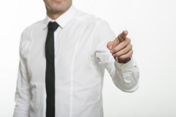 business man finger 2