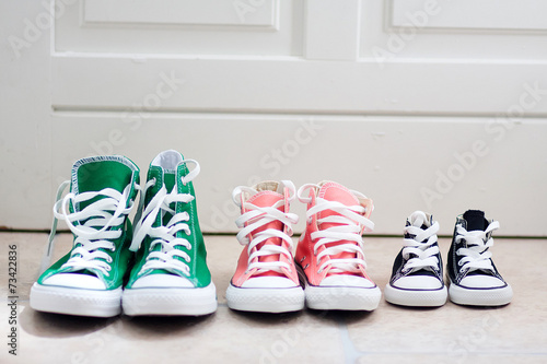 canvas print picture Chaussures de la famille