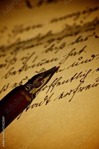 canvas print picture Ein alter Brief