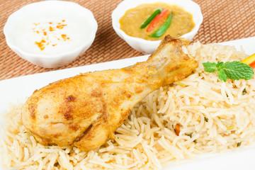 Chicken Biryani Closeup