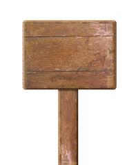 Holzschild freigestellt