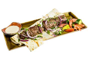 Kebab with pita bread