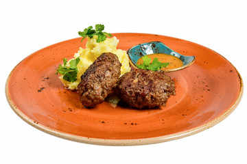 Traditional cutlets with potatoes