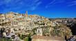panorama of ancient cave city Matera, Basilicata, Italy