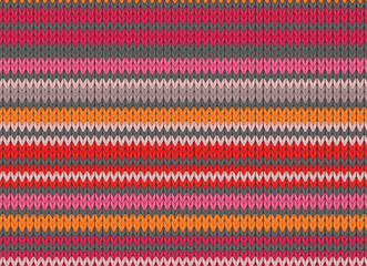 scandinavian style seamless knitted pattern