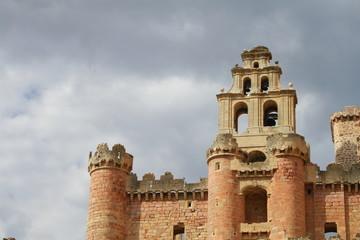 front view of Turegano castle in Segovia province
