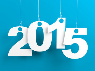 New Year 2015 Blue