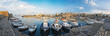 panorama of the port in Heraklion, Crete, Greece
