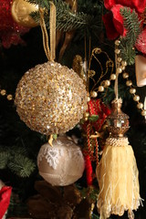 Christmas balls, new year composition