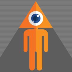 triangle eye head