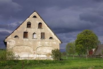 Zdonov village before storm - Adrspach Rocks