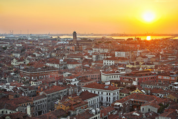 View of Venice from the top