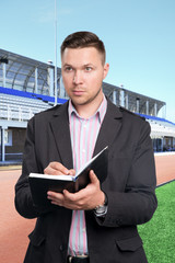 Football scout at work