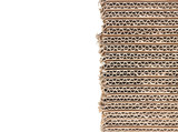 Stack of brown corrugated cardboard boxes with copy space
