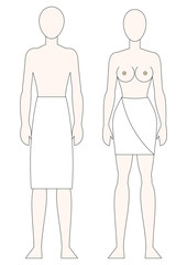 Human Body Male Female Vector