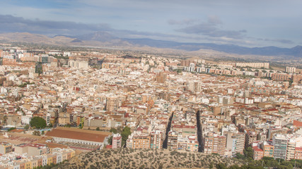 Aerial view of Alicante city, Spain