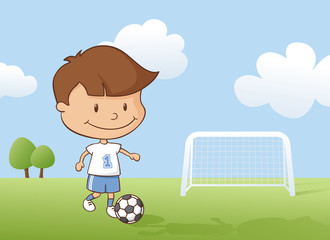 Playing Soccer Boy