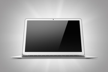 Laptop isolated on a gray background