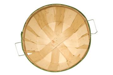Empty Bushel Basket From Above