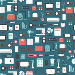 Seamless pattern of electronic devices and home appliances