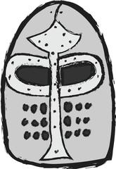 doodle medieval helmet