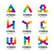 Zdjęcia na płótnie, fototapety, obrazy : set of vector logos from abstract modules