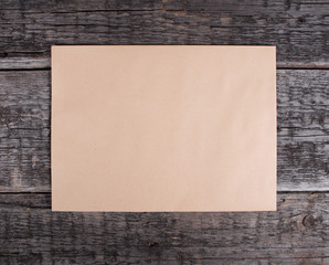Blank card  on old wooden background