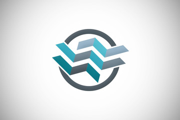 abstract geometry construction technology logo