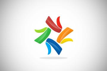 circular colorful shape abstract logo