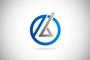 round arrow unusual business logo