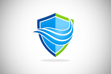 shield air flow cool protection logo