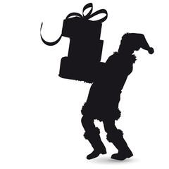 Weihnachtsmann Silhouette