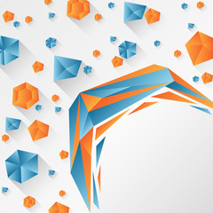 Abstract background with geometrical shapes