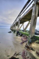 France, Luc sur Mer - Ponton - Temps de pose hdr