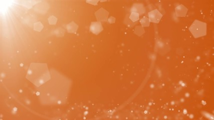 Abstract looping animation of orange Christmas background