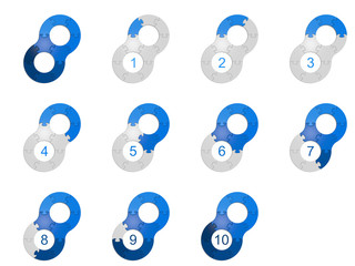 Circle Puzzle 10 - Blue 2