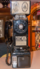An old vintage pay phone