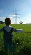 canvas print picture - Energie Zukunft kind
