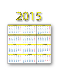 Calendario 2015 italiano