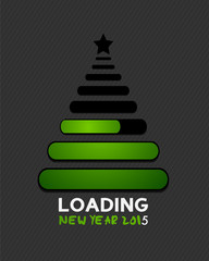 2015 christmas tree internet loading bars